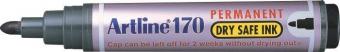 Permanent marker ARTLINE 170 - Dry safe ink, corp plastic, varf rotund 2.0mm - negru