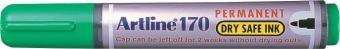 Permanent marker ARTLINE 170 - Dry safe ink, corp plastic, varf rotund 2.0mm - verde