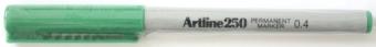 Permanent marker ARTLINE 250, corp plastic, varf rotund 0.4mm - verde