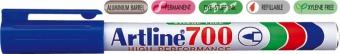 Permanent marker ARTLINE 700, corp metalic, varf rotund 0.7mm - albastru