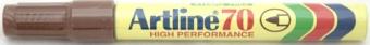 Permanent marker ARTLINE  70, corp metalic, varf rotund 1.5mm - maro
