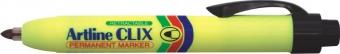 Permanent marker ARTLINE Clix 73, corp plastic, mecanism retractabil, varf rotund 1.5mm - negru
