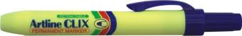 Permanent marker ARTLINE Clix 73, corp plastic, mecanism retractabil, varf rotund 1.5mm - albastru