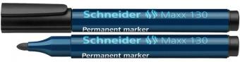 Permanent marker SCHNEIDER Maxx 130, varf rotund 1-3mm - negru