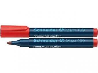 Permanent marker SCHNEIDER Maxx 130, varf rotund 1-3mm - rosu