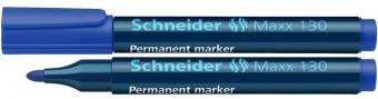 Permanent marker SCHNEIDER Maxx 130, varf rotund 1-3mm - albastru