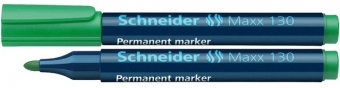 Permanent marker SCHNEIDER Maxx 130, varf rotund 1-3mm - verde
