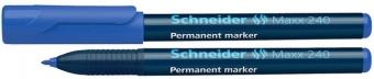 Permanent marker SCHNEIDER Maxx 240, varf rotund 1-2mm - albastru