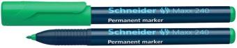 Permanent marker SCHNEIDER Maxx 240, varf rotund 1-2mm - verde