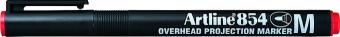 OHP Permanent marker ARTLINE 854, varf mediu - 1.0mm - rosu