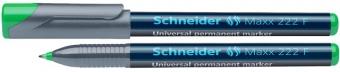 Universal permanent marker SCHNEIDER Maxx 222 F, varf 0.7mm - verde