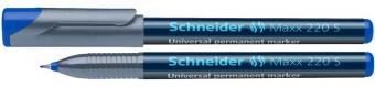 Universal permanent marker SCHNEIDER Maxx 220 S, varf 0.4mm - albastru