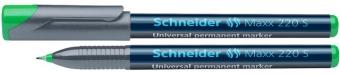 Universal permanent marker SCHNEIDER Maxx 220 S, varf 0.4mm - verde