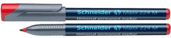 Universal permanent marker SCHNEIDER Maxx 224 M, varf 1mm - rosu