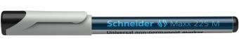 Universal non-permanent marker SCHNEIDER Maxx 225 M, varf 1mm - negru