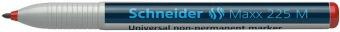 Universal non-permanent marker SCHNEIDER Maxx 225 M, varf 1mm - rosu
