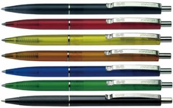 Pix SCHNEIDER K20 Icy colours, clema metalica, culori asortate - scriere albastra