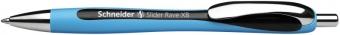 Pix SCHNEIDER Slider Rave XB, rubber grip, accesorii metalice - scriere neagra