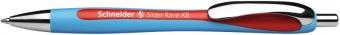 Pix SCHNEIDER Slider Rave XB, rubber grip, accesorii metalice - scriere rosie