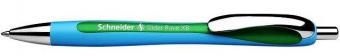 Pix SCHNEIDER Slider Rave XB, rubber grip, accesorii metalice - scriere verde