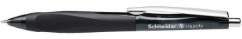 Pix SCHNEIDER Haptify, rubber grip, clema metalica, corp negru - scriere neagra