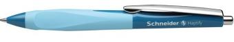 Pix SCHNEIDER Haptify, rubber grip, clema metalica, corp albastru petrol/bleu - scriere albastra