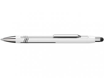 Pix SCHNEIDER Epsilon Touch XB, varf 1.4mm - corp alb/argintiu - scriere albastra