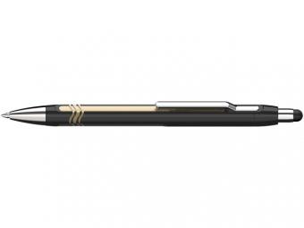 Pix SCHNEIDER Epsilon Touch XB, varf 1.4mm - corp negru/auriu - scriere albastra
