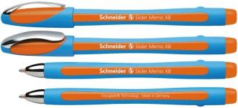 Pix SCHNEIDER Slider Memo XB, rubber grip, accesorii metalice - scriere orange