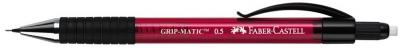 Creion mecanic Faber-Castell 0.5 mm rosu grip-matic 1375
