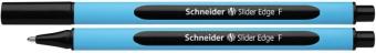 Pix SCHNEIDER Slider Edge F, rubber grip, varf fin - scriere neagra
