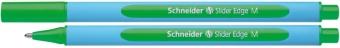 Pix SCHNEIDER Slider Edge M, rubber grip, varf mediu - scriere verde