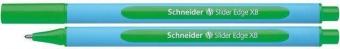 Pix SCHNEIDER Slider Edge XB, rubber grip, varf 1.4mm - scriere verde