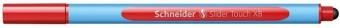 Pix SCHNEIDER Slider Touch XB, rubber grip, varf 1.4mm - scriere rosie