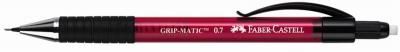 Creion mecanic Faber-Castell rosu 0.7 mm grip-metalic 1377