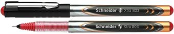 Roller cu cerneala SCHNEIDER Xtra 803, needle point 0.3mm - scriere rosie
