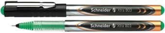 Roller cu cerneala SCHNEIDER Xtra 803, needle point 0.3mm - scriere verde