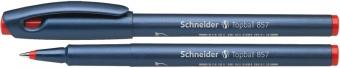 Roller SCHNEIDER Topball 857, varf cu bila 0.6mm - scriere rosie