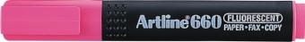 Textmarker ARTLINE 660, varf tesit 1.0-4.0mm - roz fluorescent