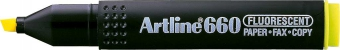 Textmarker ARTLINE 660, varf tesit 1.0-4.0mm - galben fluorescent