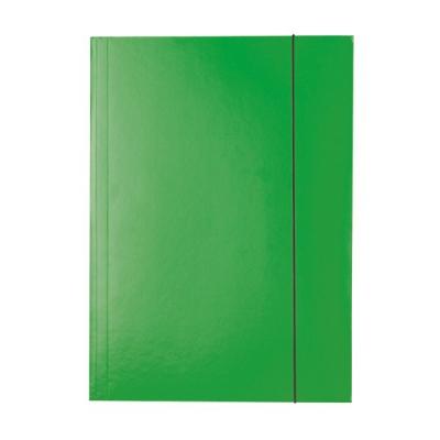 Mapa carton cu elastic verde Esselte