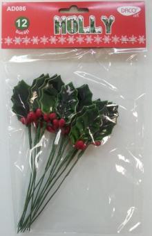 Set 12 frunze decorative - Holly DACO AD086