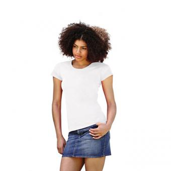 Tricou ALB LADY-FIT VALUE WEIGHT FRUIT OF THE LOOM