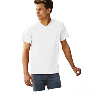 Tricou ALB V-NECK T-SHIRT FRUIT OF THE LOOM