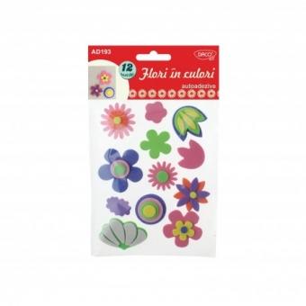 Accesorii craft - AD193 Flori in culori spuma autoadeziva DACO