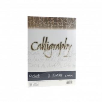Hartie caligrafica A4 100g alb Canvas FAVINI