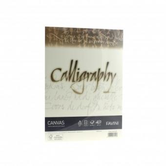 Hartie caligrafica A4 100g crem Canvas FAVINI