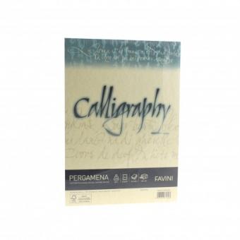 Hartie caligrafica A4 190g crem Pergamena FAVINI