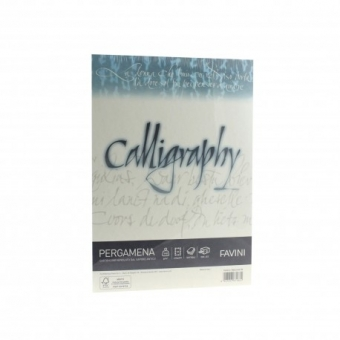 Hartie caligrafica A4 190g natur Pergamena FAVINI