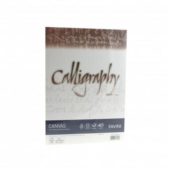 Hartie caligrafica A4 200g alb Canvas FAVINI
